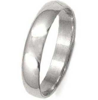 High Polished Sterling Silver 5mm Wedding Band