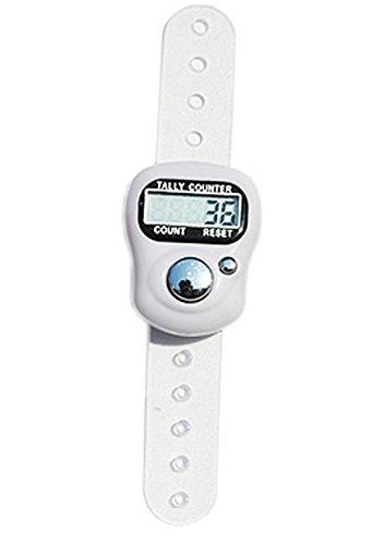 Z-standBy Weiß Tally Counter Mini 5-stellige LCD Elektronische Digital Golf Finger Hand Held Tally Counter
