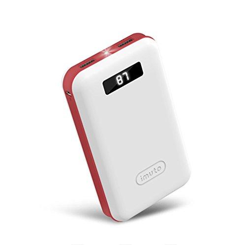 特別なデザイン for ポケモンgo  iMuto 超大容量 20000mAh モバイルバッテリー 急速充電 2USB出力ポート スマートデジタルスクリーン LED ライト搭載 iPhone 6s / 6s Plus / 6 / 6 Plus / 5s / 5c / 5 / iPad / Android / Xperia / Galaxy / 各種スマホ / タブレット/ ゲーム機 / Wi-Fiルータ 等対応 カラー:ホワイト