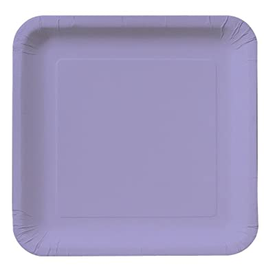 Creative Converting Touch of Color 18 Count Square Paper Lunch Plates, Luscious Lavender from Creative Converting