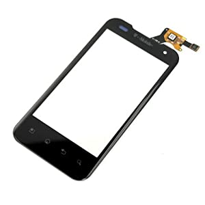 Original OEM Genuine Black Touch Screen Touchscreen Digitizer+Lens Cover Repair Fix Replace Replacement For T-Mobile LG P999 G2X