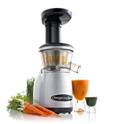 Omega VRT350 Heavy Duty Dual-Stage Vertical Single Auger Low Speed Juicer