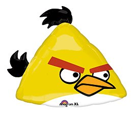Yellow Angry Bird Mylar Balloon - 1