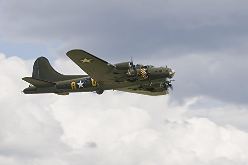 Transportation - B-17g Flying Fortress Peel and Stick Fabric Wall Sticker by Wallmonkeys Wall Decals