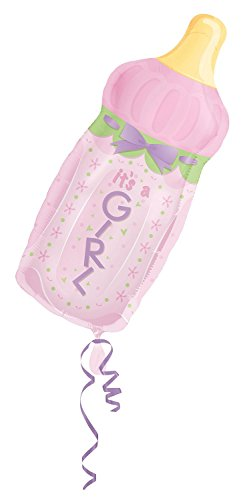 "Anagram International it's A Girl Baby Bottle Shape, 31"", Multicolor"