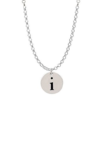 Disc 1/2'' Initial - i - Necklace