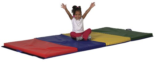 ECR4Kids Tumbling Mat, 4 Sections, 4' by 6'