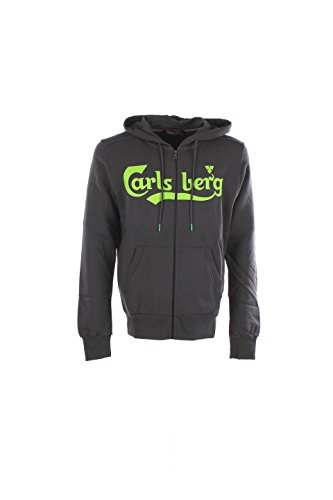 Felpa Uomo Carlsberg CBU2306 Grigio Autunno/Inverno Grigio L