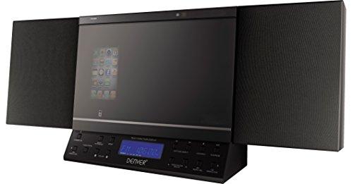 MCI-103 Mikroanlage (CD, UKW-Radio, AUX-In, USB-Anschluss, SD-Karteneinschub, iPod-Docking) schwarz