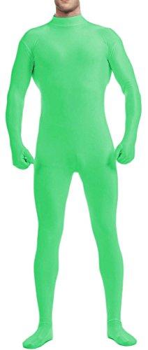 [VSVO Men's Unitard Dancewear Lycra Spandex Bodysuit (XX-Large, Green)] (Green Man Body Suit)