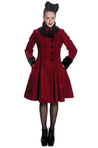 Hell Bunny -  Cappotto  - Donna rosso - bordeaux X-Small