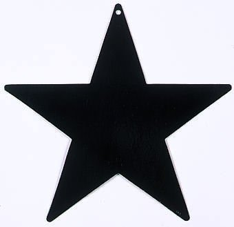 "Star Cutout Black - 12"" (1 ct) Foil (1 per package)"