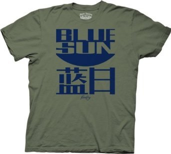 Joss Whedon Serenity Blue Sun Logo Mens T-Shirt (Military Green),