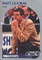 Matt Guokas Orlando Magic 1990 Hoops Autographed Hand Signed Trading Card - Coach. by Hall+of+Fame+Memorabilia