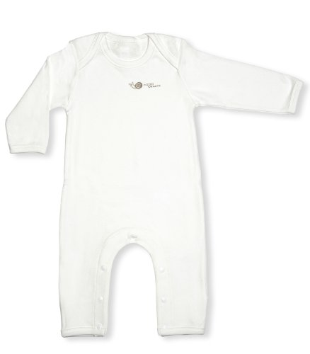 Niteo Unisex Baby Organic Cotton Playsuit With Fold Over Leg-Natural-9-12 Months front-275411