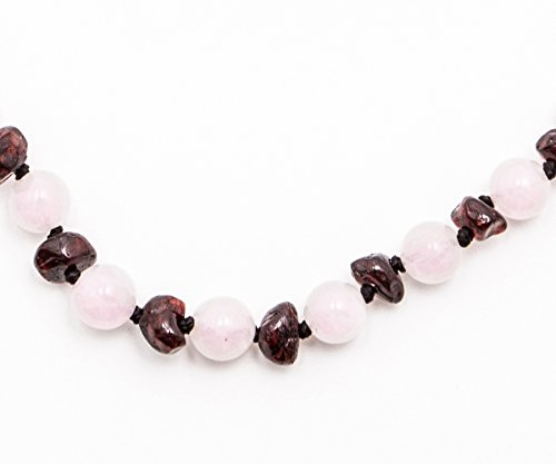 baltic-amber-baby-teething-necklace-pop-clasp-rose-quartz-with-gemstones-11-reduce-drooling-and-teet