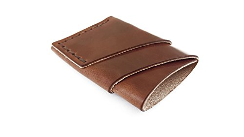Port Wallet Handmade Minimal Leather (Brown)