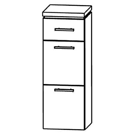 In Line Highboard (HBA563 A5M) Bath Furniture, 30 cm