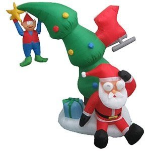Airblown Inflatables Animated 6' Tall Crashing Santa With Spinning Eyes front-833235