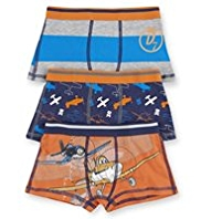 3 Pack Cotton Rich Disney Planes Trunks