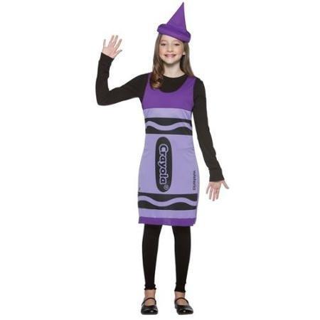 [Tween Crayola Wisteria Crayon Costume WLM] (Crayola Wisteria Crayon Costumes)
