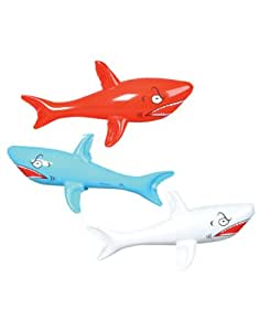 "Rhode Island Novelty 24"" Inflatable Sharks Toy (3 Piece)"