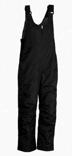 White Sierra D9717M Men's Insulated Bib Snow Pant (Black, XX-Large)