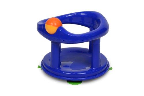 Safety 1st, Seggiolino da bagno girevole di 360° con ventose e giocattolo integrato, Blu (blau)