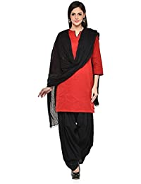 Kismat Collection Women's Pure Cotton Printed Patiala & Duppta Sets (Free Size) - B01L6SGQMA