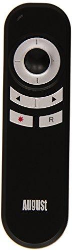 August LP180B Puntatore a Laser rosso per presentazioni PowerPoint - Con mouse remoto da 2.4GHz / cambio pagina / tasti di scelta rapida - batterie incluse