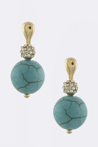 Baubles & Co Sphere Stone Earrings (Turquoise) front-944461