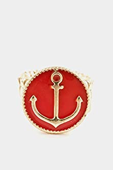 buy Karmas Canvas Anchor Epoxy Stretch Ring (Red)