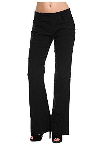 G2 Chic Women's Solid Millennium Sleek Office Dress Pants(BTM-PNT,BLKA4-M)