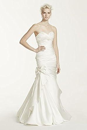 Satin Mermaid Wedding Dress With Bow Detail Style V3204 Ivory 2 At Amazon Womens Clothing