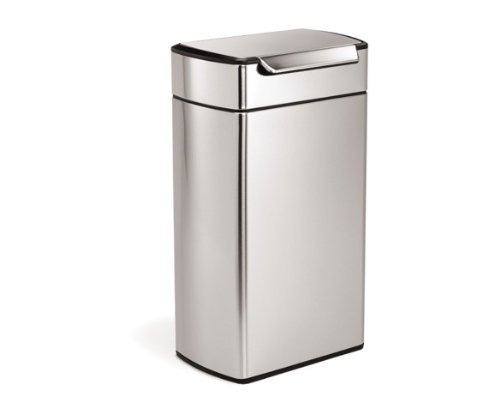 simplehuman Rectangular Touch-Bar Trash Can, Stainless Steel, 40 L / 10.5 Gal Reviews