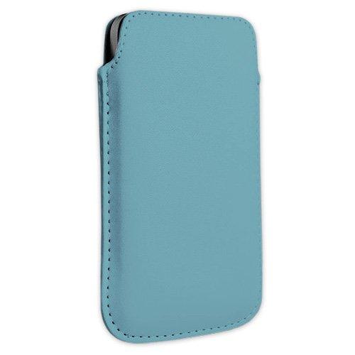 Hellblau Kunstleder Handytasche Smartphone für AURO Classic 8510, Comfort 1010, 1020 und 1060