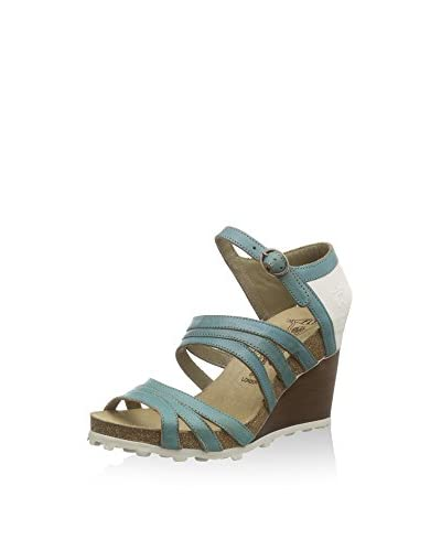 FLY London Anke 617, Sandales femme, Multicolore (GROUND/OFFWHITE 000), 37