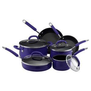 Black Friday Deals 10-Pc Cookware Set - Porcelain Enamel Blue