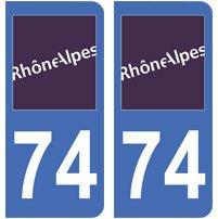 2-autocollants-74-haute-Savoie-plaque-immatriculation-dpartement-auto-74-angles-arrondis