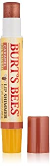 Burts Bees Lip Shimmer Caramel 0.09 Ounce Pack of 4