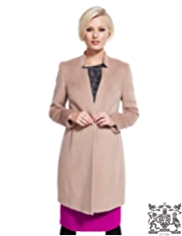 Best of British 1 Button Coat with Wool