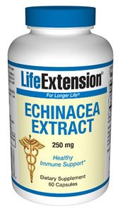 Life Extension Echinacea Extract 250mg Capsules,