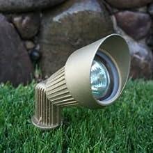 2PACK-Solid Brass Spot Light-Standard Life MR16 50 Watt 36 degree Bulb