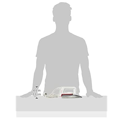 Maharaja Whiteline Classico+ DI-103 1000-Watt Dry Iron (White/Red)