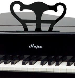 Amazon Com Hape Early Melodies Happy Grand Piano Black