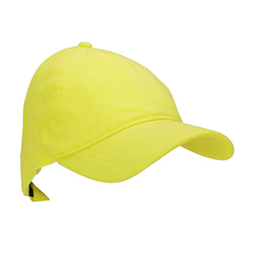dalix-ladies-ponytail-cap-womens-half-visor-with-adjustable-elastic-band-minion-yellow