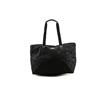 Coach Signature Nylon Packable Weekender 2 Piece Set 77321 Black