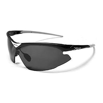 X-Loop Lunettes de Soleil - Sport - Cyclisme - Ski - Conduite - Moto / Mod. 1360 Noir / Taille Unique Adulte / Protection 100% UV400