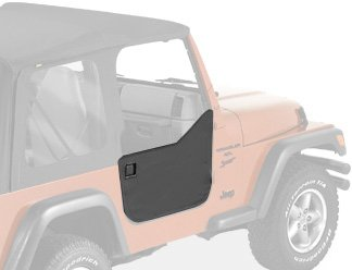 Bestop 53039-15 Black Denim Fabric Lower Half Door Set For 97-06 Wrangler Including Unlimited