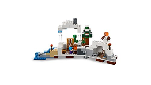 LEGO-Minecraft-21120-the-Snow-Hideout-Building-Kit